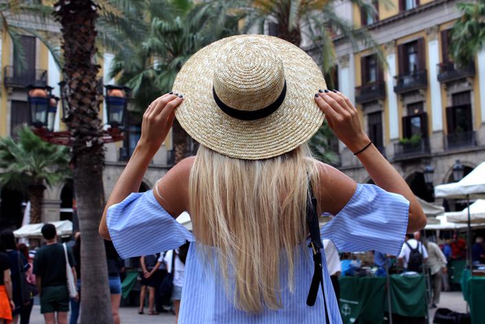 Chapeau paille tenue mode tendance blog