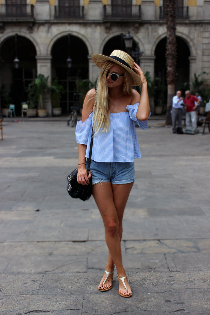 Barcelone tenue short top a l'espagnole