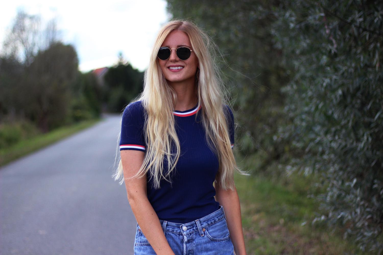 Bleu blanc rouge look tendance blog mode