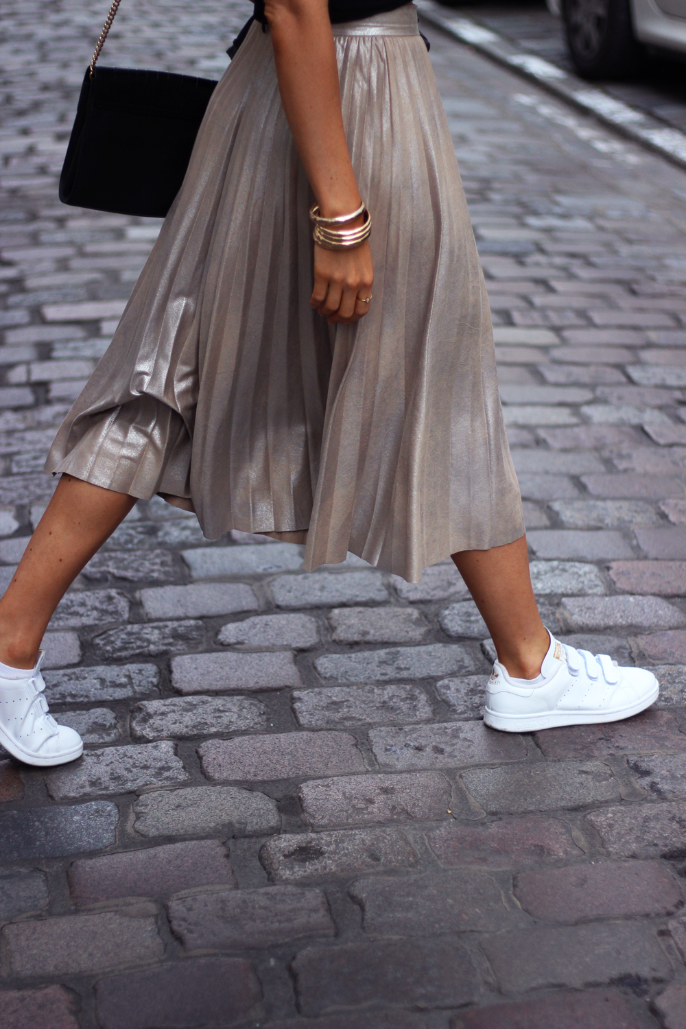 Jupe metalisee Zara metallic skirt blog Jess Me Up Lille