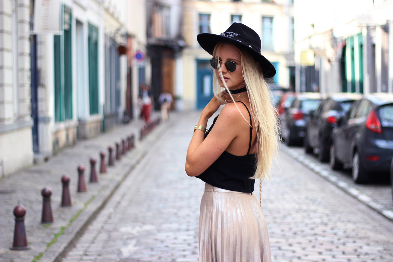 Metallic skirt jupe Zara blog mode