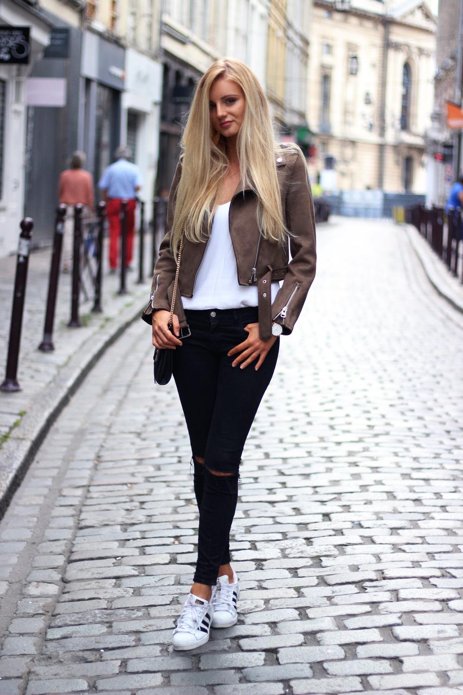 Blog mode Lille perfecto zara blouson kaki look tendance