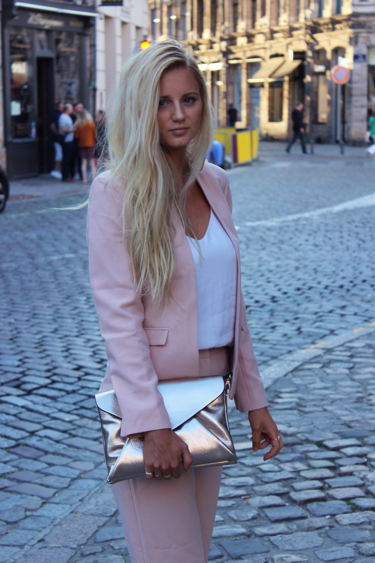 Look outfit ensemble rose Asos