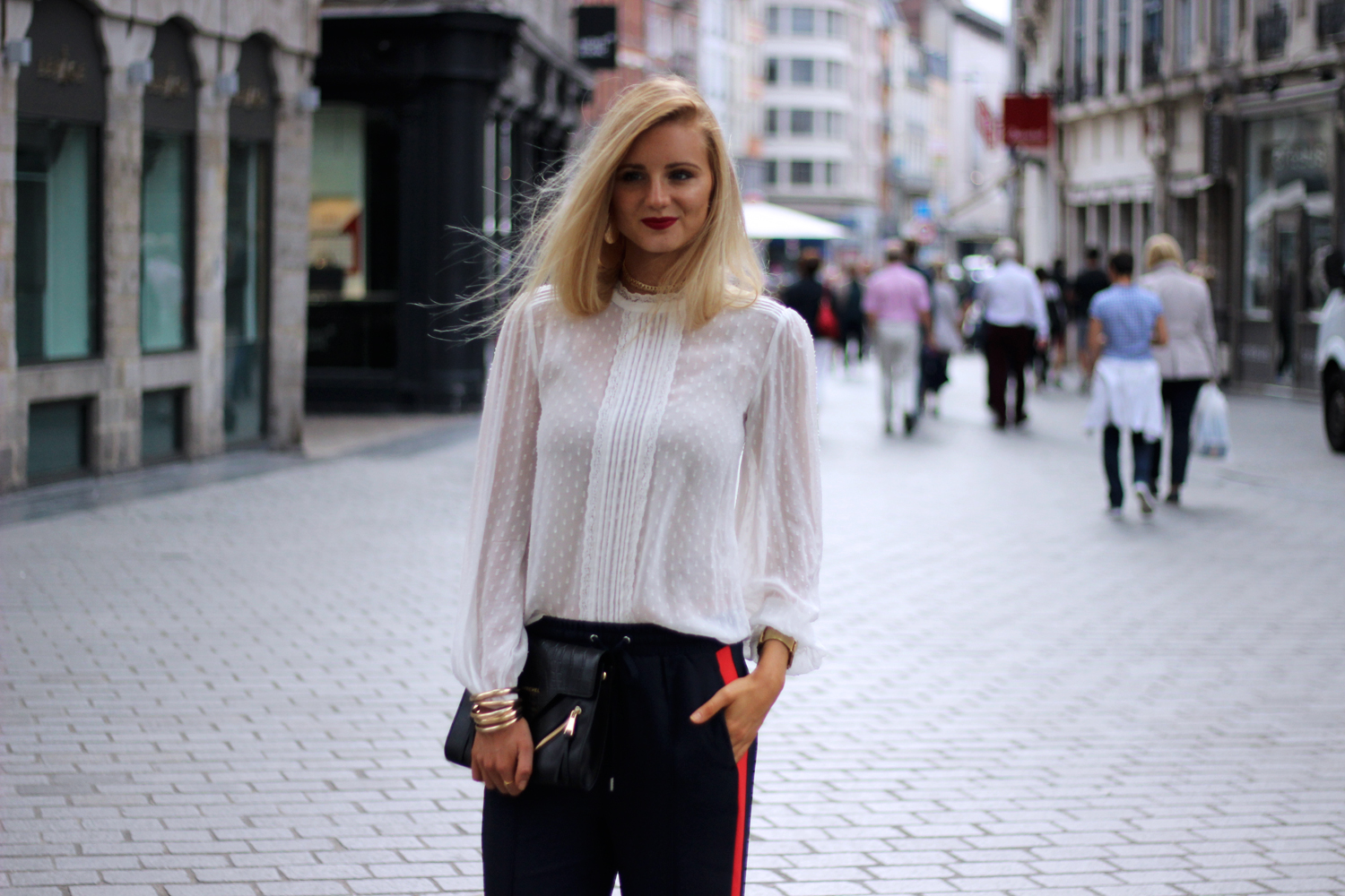 Blog mode Lille chemisier Zara jogging HM