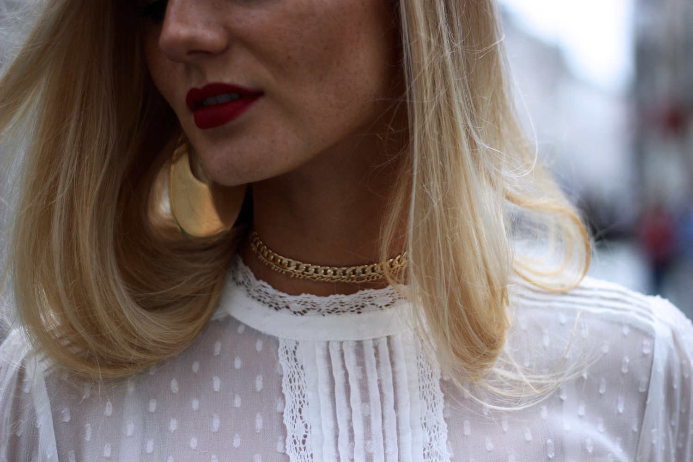 Blog mode Lille chemisier Zara choker Asos