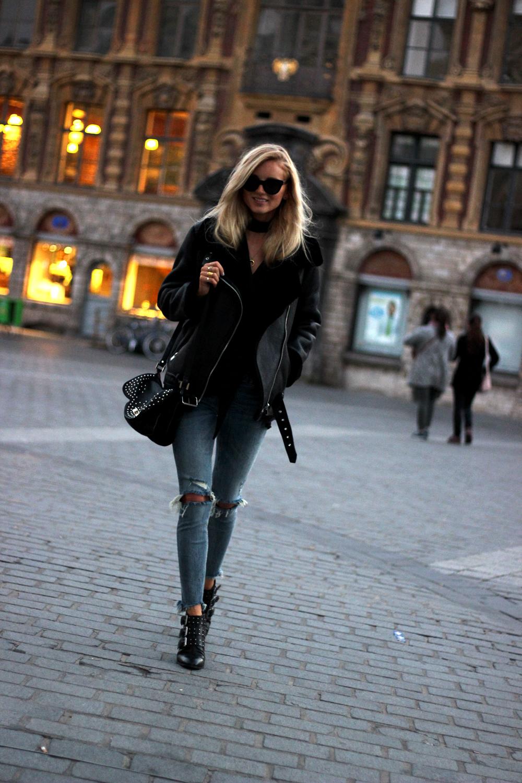 Blouson aviateur Zara blog mode shearling jacket acne tendance