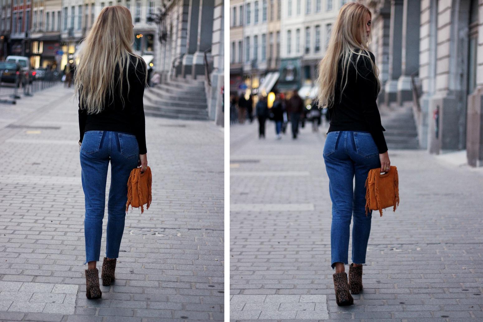 Blog mode tendances looks hiver sac Maje jean H&M