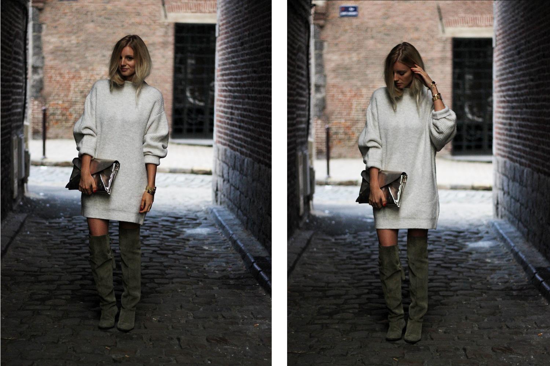 Robe pull Zara comment porter les cuissardes Asos blog mode