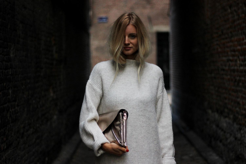 Robe pull Zara look mode tendance french blogger