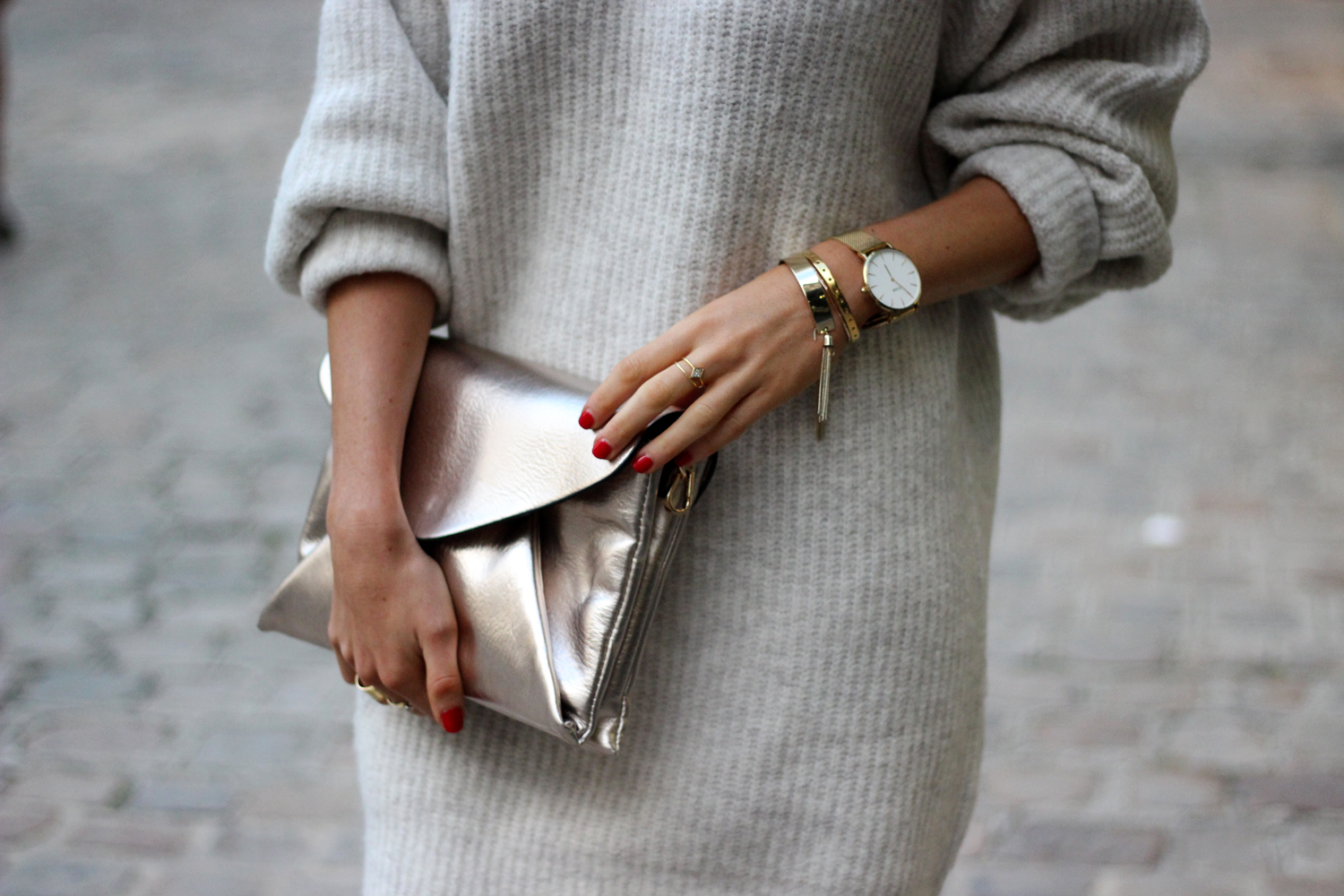 Robe pull Zara look blog mode montre Cluse Lille