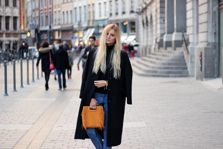Blog mode tendances looks hiver sac Maje jean H&M manteau Asos