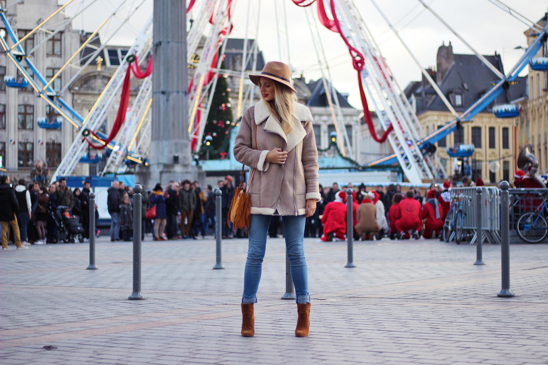 Blog mode Lille Zara manteau peau retournée chapeau volants sac M Maje