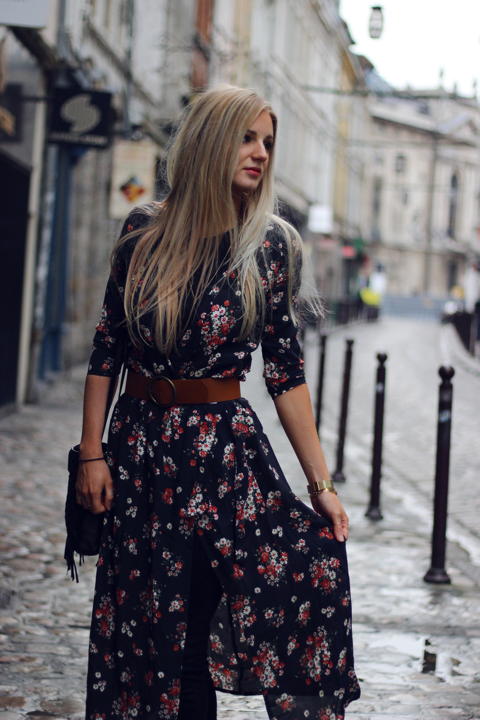 Blog mode Lille robe Mango sac Maje M look