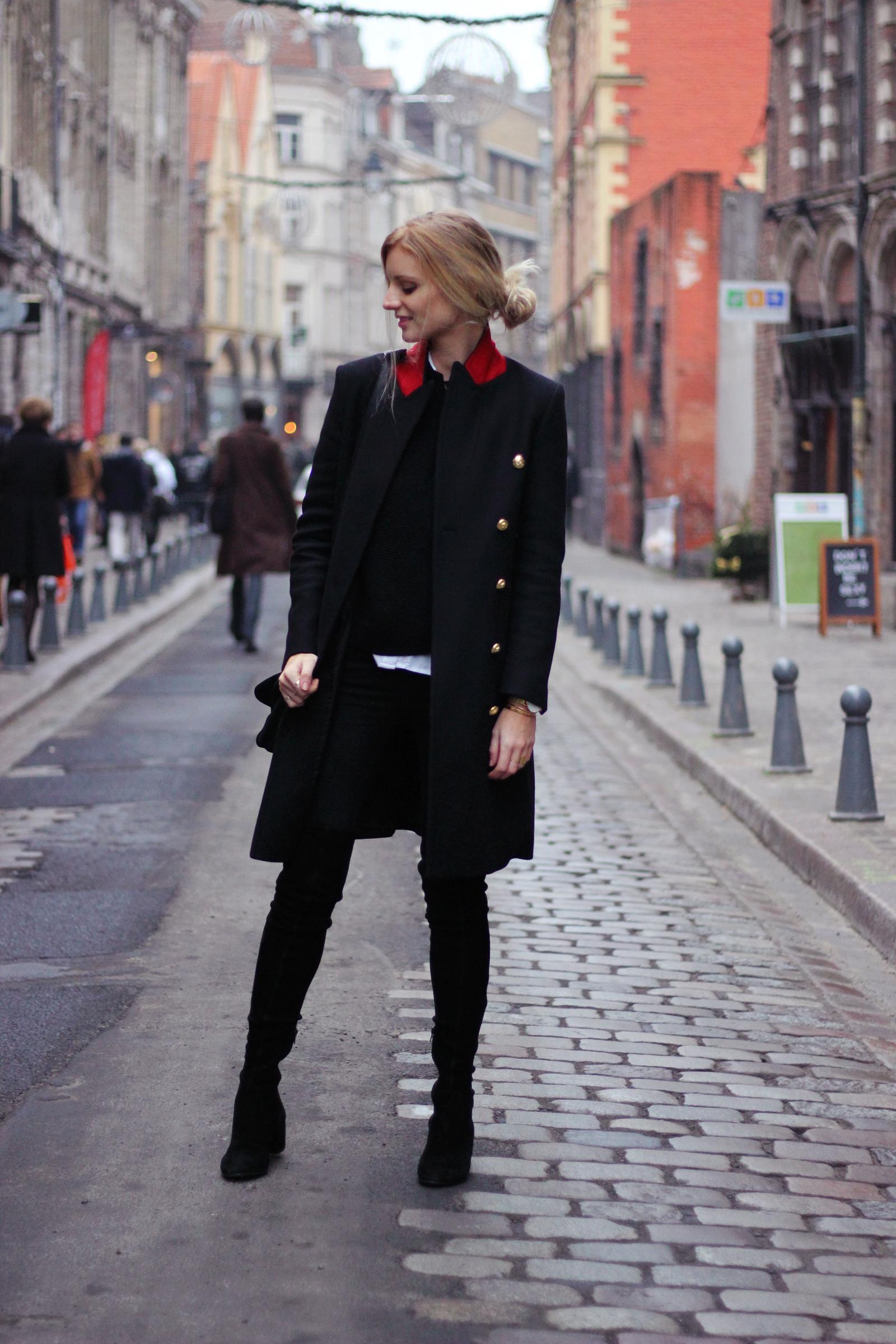Blog mode Jess Me Up fashion mode manteau officier Lille